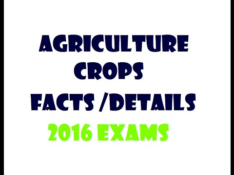 AGRICULTURE + CROP STATISTICS + LATEST FACTS / KEY DATA