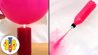 Jet Powered Boat and Fire Balloon Science Experiment | Simple Science Tricks & Experiments