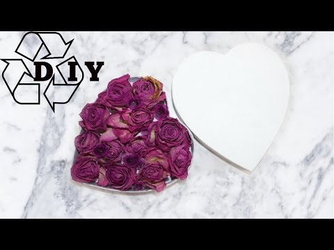 Dried Roses Bouquet With Hart Shaped box | Gift| Instagram rose bouquet