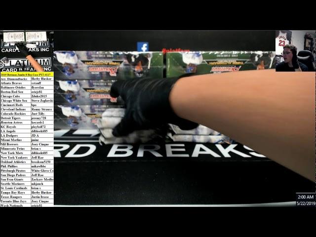2019 Bowman Jumbo 8 Box Case PYT #117 - YouTube