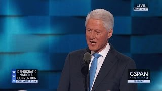 Bill Clinton FULL REMARKS at 2016 Democratic National Convention (C-SPAN)