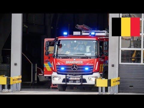 [Belgium] Brandweer Antwerpen Post Noord // Antwerp Fire Engine Responding