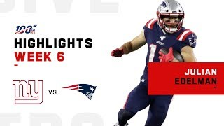 Julian Edelman Makes Moves w/ 113 Yards | NFL 2019 Highlights