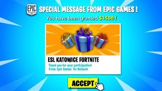 Noizeeh | EPIC SENT ME A GIFT! ESL KATOWICE (Fortnite Battle Royale)