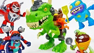 The Trash-O-Saur Chomps & Chew Grossery Gang~! - ToyMart TV