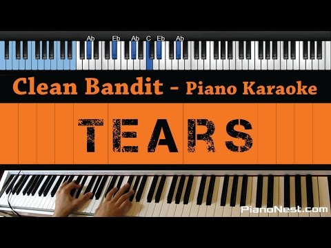 Clean Bandit - Tears ft. Louisa Johnson - LOWER Key (Piano Karaoke / Sing Along)
