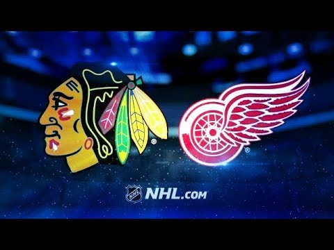 CHICAGO BLACKHAWKS VS DETROIT RED WINGS 1/25/18