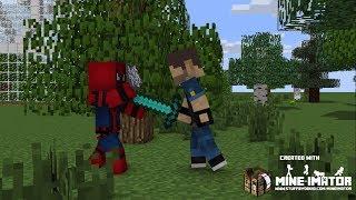 Spiderman vs Joker and spiderman fall in love -  Sad Minecraft Animation