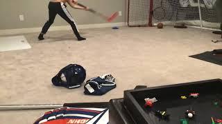 Burkely playing hockey