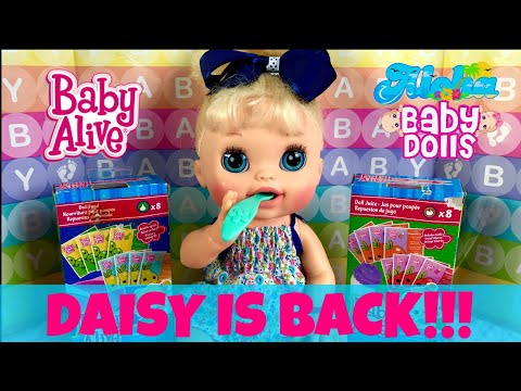🌸Baby Alive, Daisy Is Back! 🙋🏼Her Morning Routine (feeding & Changing) With Skye! Cute & Funny 😄