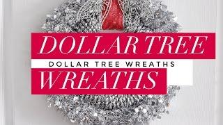 DIY   Dollar Tree Christmas Wreaths   Easy & Budget-Friendly