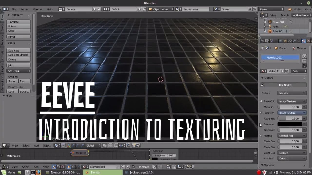 Blender Eevee - Introduction to Texturing in Eevee