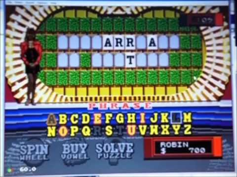 Wheel of Fortune Sega CD Season 1 Episode 24 Robin Moore Vs. rodney1279 and alex houle