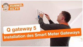 QUNDIS-Montagevideo: Installation des Smart Meter Gateways Q gateway 5