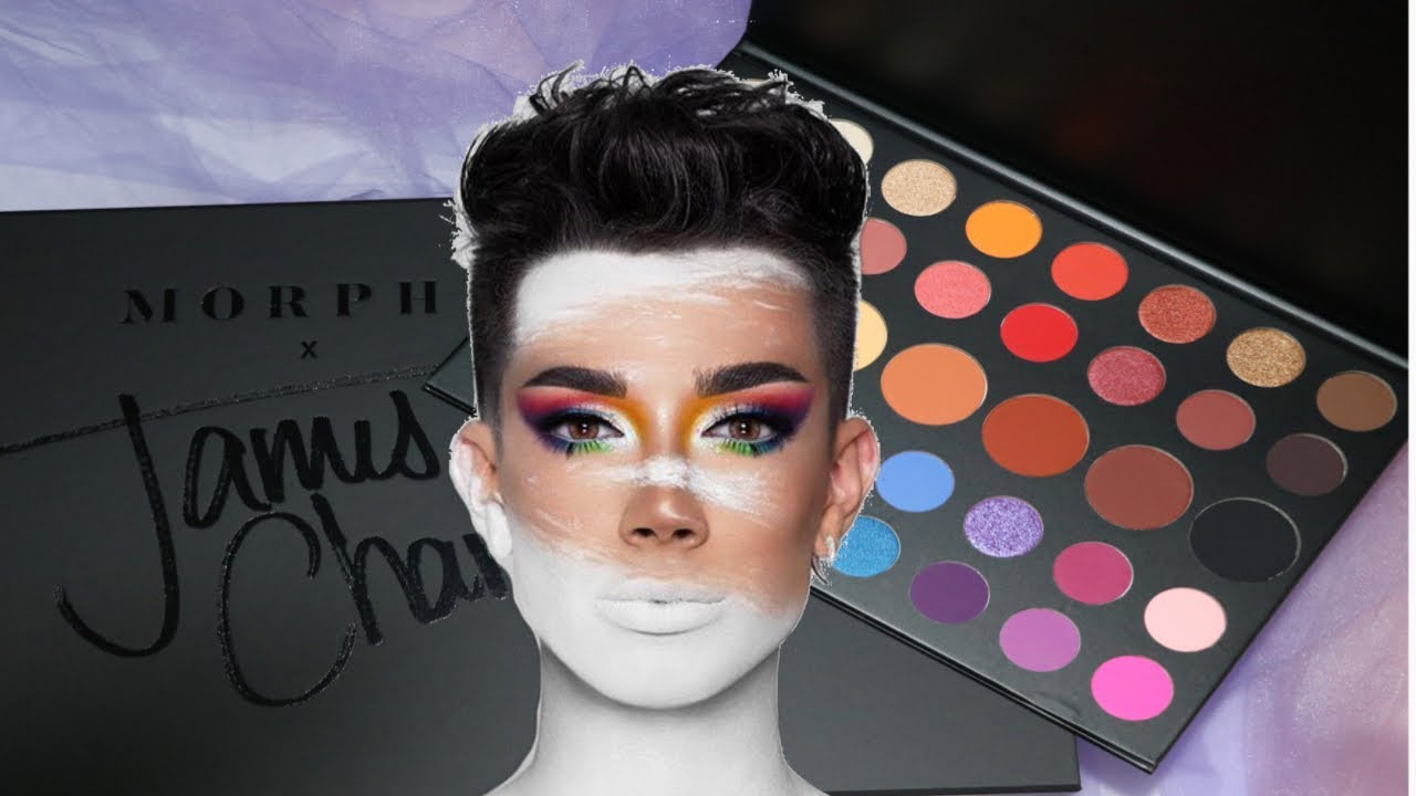 Morphe X James Charles Eyeshadow Palette Swatches Youtube