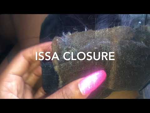 Removing Ghost Bond from a lace closure / Frontal