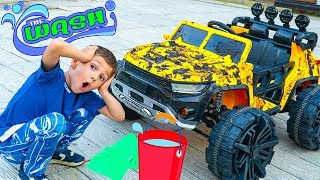 Artem and New Car Wash for Toys Cars - Fun Story