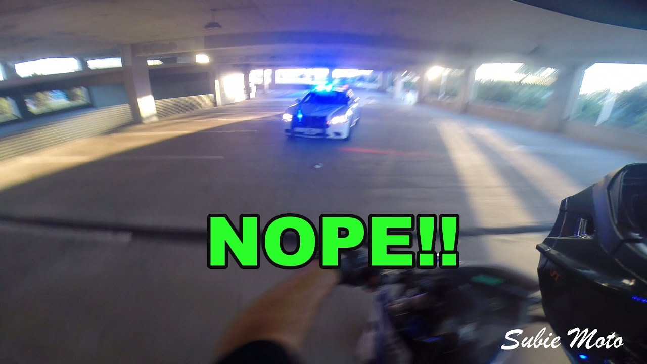 Running from police on a motorcycle (don't do it)