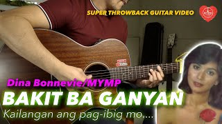 Bakit Ba Ganyan Dina Bonevie MYMP Freestyle Instrumental guitar karaoke cover with lyrics