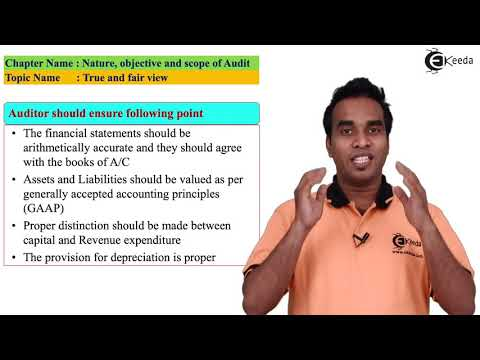 True & Fair View - Nature, Objective and Scope of Audit - Auditing and Assurance