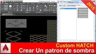 Crear patrones de sombra en autocad - Custom Hatch