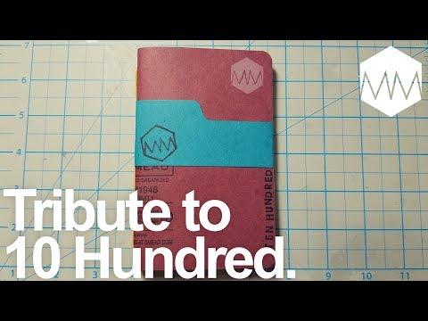 ▲ Tribute to Ten Hundred // Congrats on 100K!! // Bookbinding Basics ep. 18