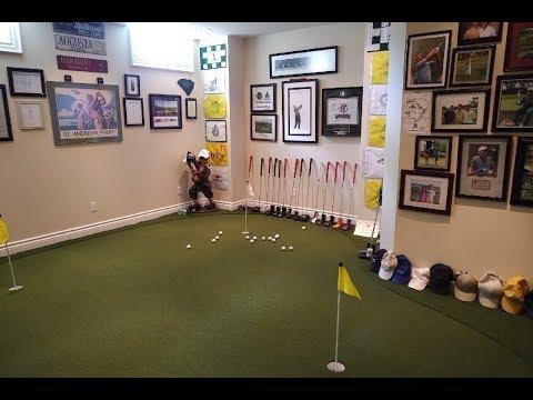 Man Cave Tour Featuring Indoor Golf Zone