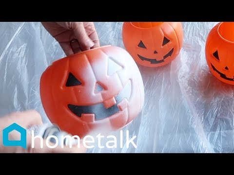 Halloween To Christmas Decor - Turn $1 Walmart pumpkins into this winter porch idea! | Hometalk