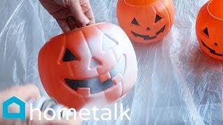 Halloween To Christmas Decor - Turn $1 Walmart pumpkins into this winter porch idea! | Hometalk