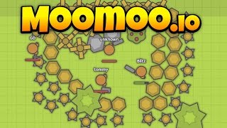 MooMoo.io - The Best Base Ever! - 10k+ Points and Top of Leaderboard - Let's Play MooMoo.io Gameplay