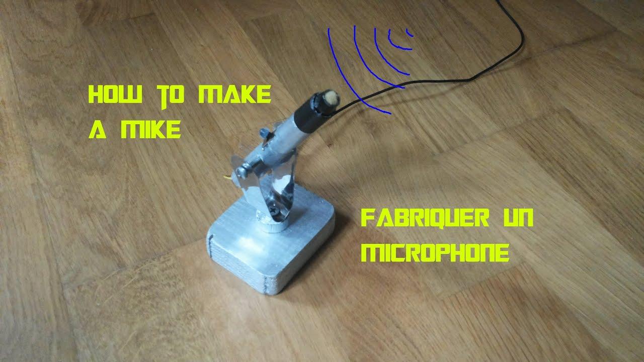 bricolage fabriquer un microphone de table gratos de bonne qualit youtube. Black Bedroom Furniture Sets. Home Design Ideas