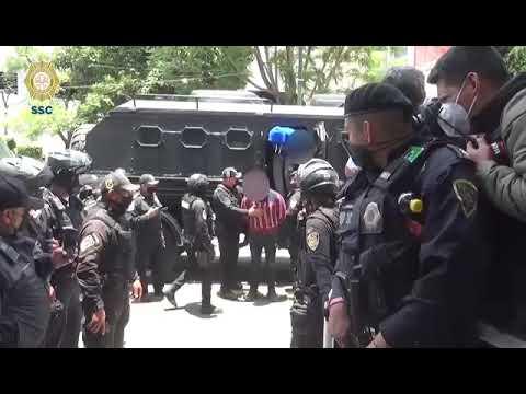 SSC-CDMX detuvo a 55 personas relacionadas con la invasión de un predio en Tlalpan