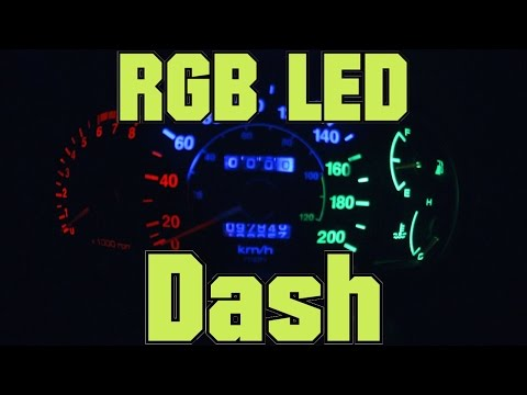 How To DIY RGB LED Dash - RGB LED Instrument Panel