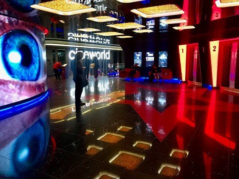 Cineworld (Empire) Leicester Square refurbished foyer April 2018