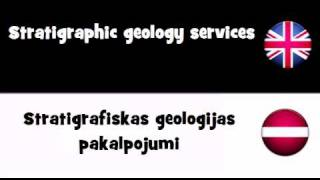 VOCABULARY IN 20 LANGUAGES = Stratigraphic geology services(, 2011-04-07T06:55:58.000Z)