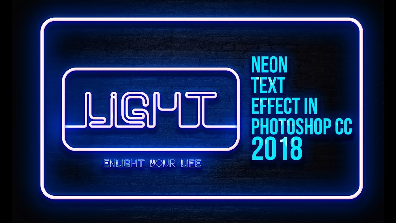 How to make neon text effect in photoshop cc adobe photoshop how to make neon text effect in photoshop cc adobe photoshop tutorial cc 2018 baditri Image collections