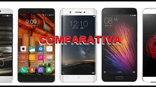 comparando características de celulares
