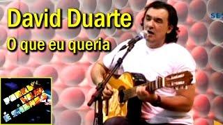 David Duarte - O que eu queria (Porque Hoje é Sábado)