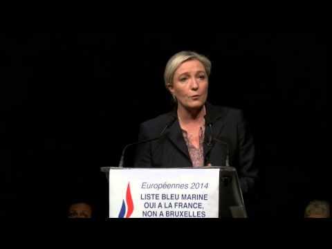 Marine Le Pen au Havre, dernier meeting des Européennes
