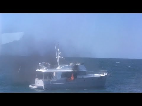 Burning Boat Rescue off of Key West, FL - 11/20/2017