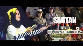 Download lagu SABYAN GAMBUS Live Di HUT BHAYANGKARA KE -72, Bikin Adem Suaranya