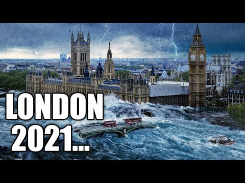 Apocalypse in England! London is in chaos! The strongest Flood and Storm! Thunderstorms!