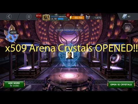 MCOC: 509 Arena Crystals Opening | Over 1M Battle Chips Spent | 4* Punisher Hunting