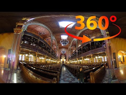 360 / VR 4K Video Dohány Street Synagogue Tour (No Comments) - Budapest, Hungary