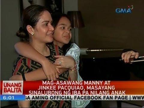 Manny At Jinkee Pacquiao, Sinalubong Ng Mga Anak