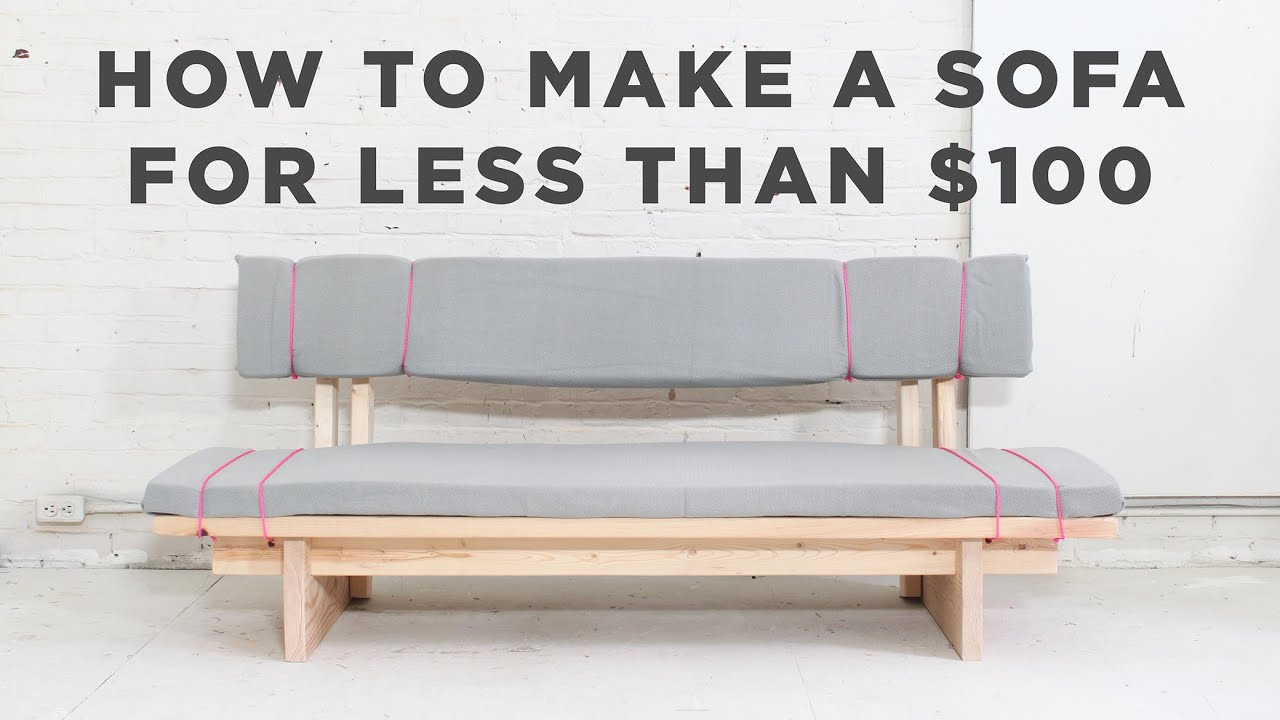 Superbe DIY Sofa | How To Make A No Sew Sofa For Under $100   YouTube