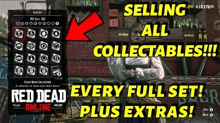 SELLING ALL COLLECTABLES IN RED DEAD ONLINE (EVERY FULL SET + EXTRA'S) RED DEAD REDEMPTION 2
