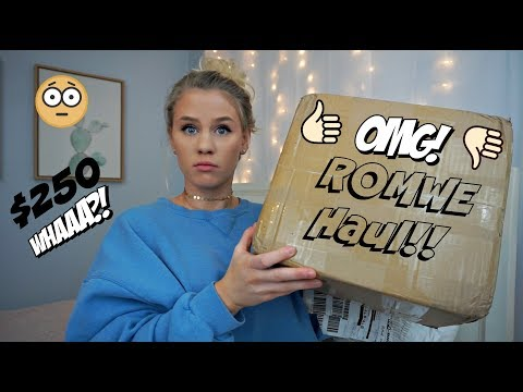 I SPENT $250 ON ROMWE! IS IT A SCAM? || Anna Cerinetti
