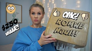 I SPENT $250 ON ROMWE! IS IT A SCAM?    Anna Cerinetti