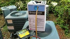 How to add freon in A/C unit